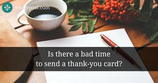 Thank You Not Thank You Notes To Send Or Not To Send The Emily Post