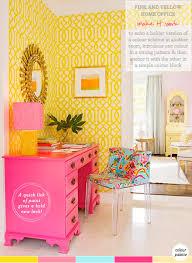 yellow office decor. Home-office-decor-idea Yellow Office Decor N