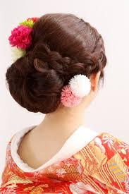 和のニュアンスを取り入れた和装洋髪スタイルカタログdiaer