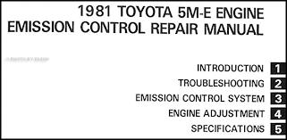 1981 Toyota Supra & Cressida Emission Control Manual Original No. 38046