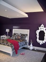 purple paint for teen bedroom | Teenage Bedroom Ideas 1425x1900 Nina  Sobinina Design Deep Purple For