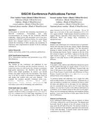 How To Format A College Paper The Chi Long Paper Format College Of Computer Science