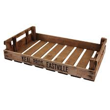 original wooden potato chitting trays for merchandising displays shallowness makes them perfect for displaying baked goods