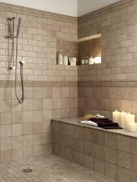 tiled shower bench