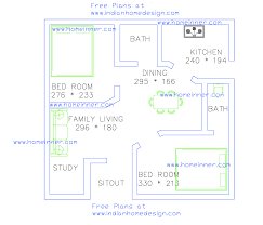 Free low cost Bedroom sq ft house plan cent land   Indian    Free low cost Bedroom sq ft house plan cent land  Bed