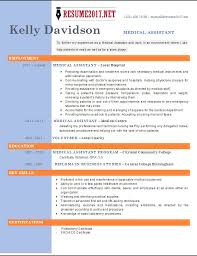 2017 Resume Delectable TOP 60 Medical Assistant Resume Templates 60 Resume Examples