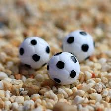 Mini Soccer Ball Decorations Enchanting 32pcs Miniature Football Mini White Ball 3232cm Fairy Garden Gnomes