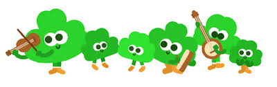 Small Picture gif Ireland irish dance google doodle four leaf clover shamrock