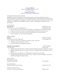 resume sample qualifications summary cover letter and resume resume sample qualifications summary resume qualifications examples resume summary of how to write a medical transcription