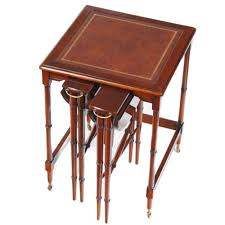 nesting furniture. Leather Top Nesting Table :: NSI147L Furniture