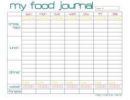 free food journal template printable diet log military bralicious co