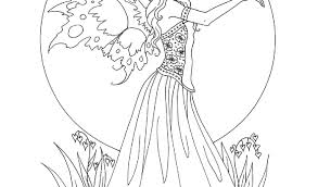 Coloring Pages Of Beautiful Fairies Pretty Fairy Coloring Pages