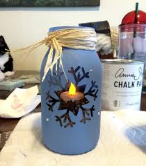 chalk painting on glass jars is super easy