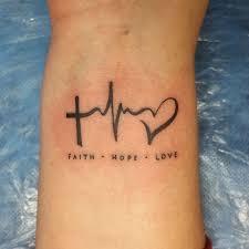 тату фото вера надежда любовь