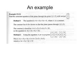 vectors planes the plane normal equation of the plane