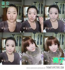 asian before and after make up
