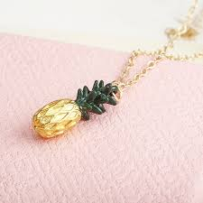 details about fashion cute tiny pineapple fruit charm long chain necklace pendant jewelry gift
