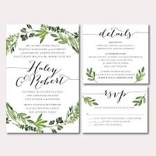 how to word hotel accommodations for wedding invitations printable wedding invitation suite botanical wreath watercolor