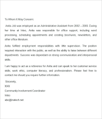 Sample Letter Of Recommendation Employee Letter Of Recommendation For Student Template Brief Example From