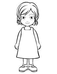 Small Picture Coloring Page Little Girl Coloring Pages Coloring Page and