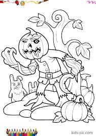 Pumpkin rebuking devil coloring page. 10 Halloween Pumpkin Coloring Pages For Kids Kids Pic Com