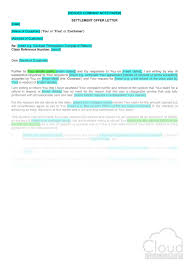Settlement Offer Letter Consumer Refund Claim B2c Cloudlegal