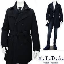 m i d a mida trench coat men down with business coat military coat down jacket black navy