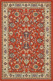 unique loom kashan collection terracotta 6 x 9 area rug 6 x 9