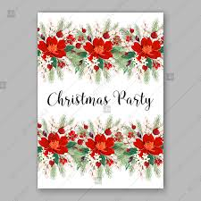 Christmas Party Save The Date Templates Red Briar Rose Flower Blossom Dog Rose Berry Christmas Party Invitation Vector Template Save The Date