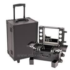 makeup case with lightirror black studio