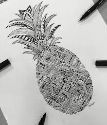 pineapple drawing. #zentangle pineapple #art#drawing#love#pineapple#like drawing u