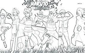 The Naruto And Nine Tailed Fox Kurama Coloring Pages Diywordpressme