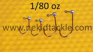 Crappie Jig Head Size Chart Nekid Crappie Jig Heads 1 64 1 80 Raw 10 Per Package Nekidtackle Llc