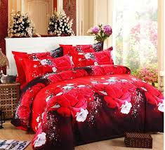red fl bedding luxury bedding set linens duvet cover size twin flower queen bed sets pink