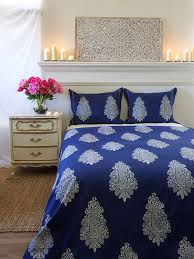 mood indigo modern paisley print blue duvet cover