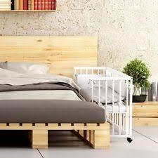 Baby Bedside Cot Next to Me Wooden Crib  Mattres 7pcs Bedding Set Optional