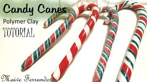 Candy Cane Decorations For Christmas Trees Polymer Clay Candy Canes Christmas Tree Decorations Tutorial 41