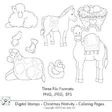Christmas Nativity Scene Coloring Sheets Nativity Coloring Pages