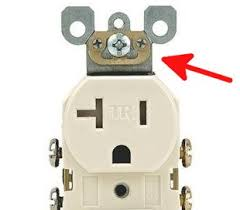 electrical grounding a receptacle when there is no ground wire 3 Outlet Grounded Wire self grounding outlet with brass tab 3 wire grounded ac outlet