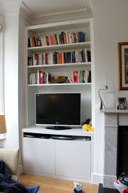 Wall Units, Bookcase With Tv Shelf Bookshelf Tv Stand Combo Fitted  Wardrobes Bookcases Shelving Floating ...