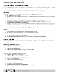Healthcare Objective For Resume Medical Office Manager Job Descriptions Fice Resume Sample