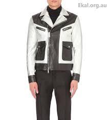 men s coats jackets dsquared2 silver black leather jackets kiodo leather biker jacket 51gw445