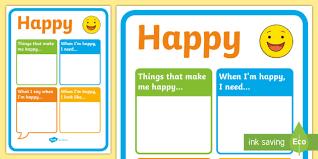 Make Me A Chart Happy Chart Feelings Emotions Sen Class Management Charts