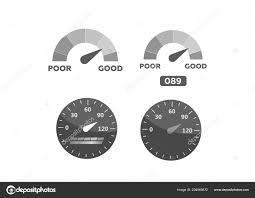 Gauge Chart Meter Good And Poor Indicator Credit Level
