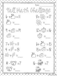 Addition Worksheets Fall Worksheets for all | Download and Share ...