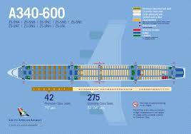 a340 600 seat plan