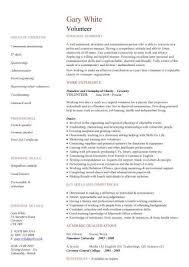 Cv Template Volunteer Experience Cv Template Pinterest Resume