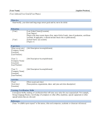 Resume template builder microsoft word student internship sample within 87  for Simple resume template word .