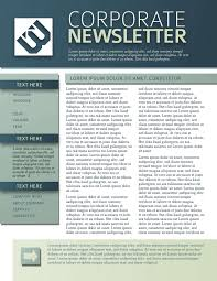 016 Newsletter Corporate 02x Template Ideas Free Templates