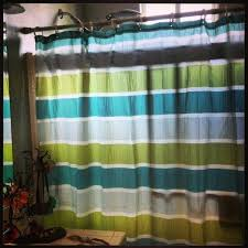 cool target shower curtain striped black and white
